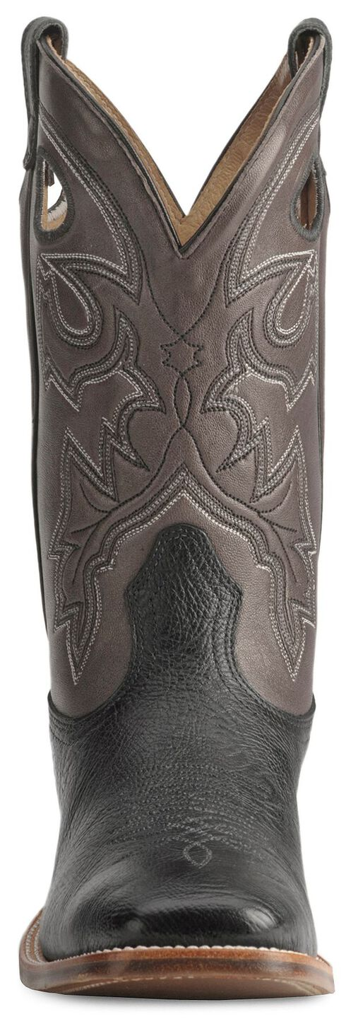 Boulet Cowboy Boots - Wide Square Toe, Black, hi-res