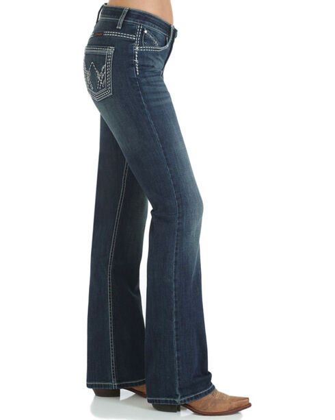 Wrangler Women's Shiloh Ultimate Riding Jeans - Boot Cut , Blue, hi-res