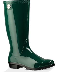 UGG Women's Pine Shaye Rain Boots , Green, hi-res