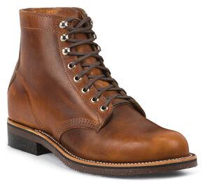 Chippewa Men's 1939 Original Tan Service Boots - Round Toe, Tan, hi-res