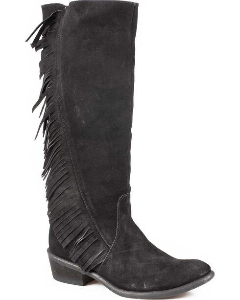 """Roper 15"""" On the Fringe Riding Boots, Black, hi-res"""