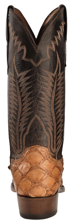 Lucchese Cognac Murphy Pirarucu Cowboy Boots - Narrow Square Toe , Cognac, hi-res