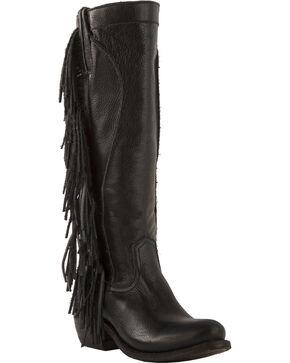 Junk Gypsy by Lane Women's Black Texas Tumbleweed Boots - Round Toe , Black, hi-res