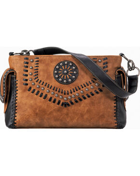 Blazin Roxx Women's Western Vanessa Conceal Carry Satchel Bag , Brown, hi-res