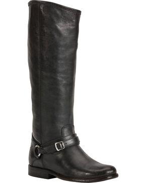 Frye Women's Phillip Ring Tall Boots, Black, hi-res