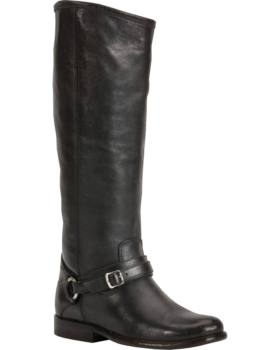 Frye Women's Phillip Ring Tall Boots, Black, hi-res