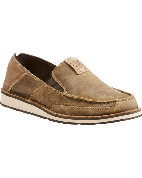 Ariat Men's Brown Cruiser Bomber Slip-On Shoes , Brown, hi-res