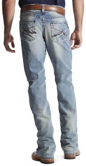 Ariat Men's M4 Crossroad Low Rise Bootcut Jeans, Denim, hi-res