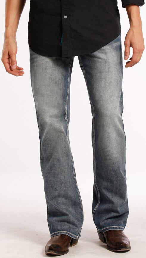 Rock and Roll Cowboy Pistol  Running Stitch Jeans - Boot Cut , Denim, hi-res
