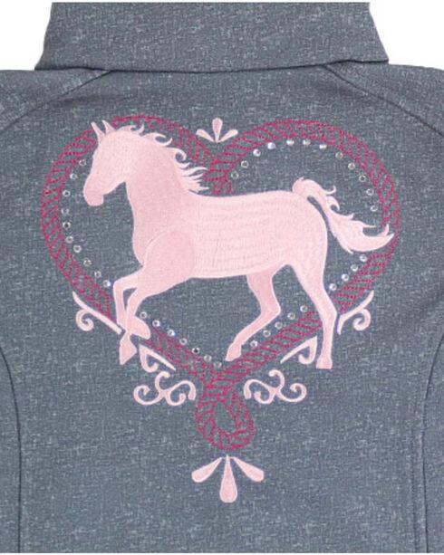 Shyanne Girls' Sparkle Horse Jacket , Charcoal, hi-res