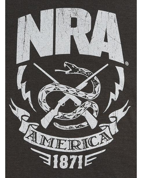 NRA Men's Black Rattlesnake & Lightning Premium Tee , Black, hi-res