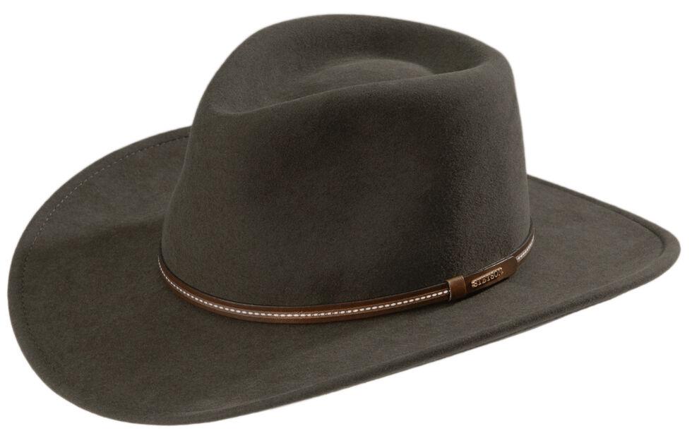 Stetson Gallatin Sage Green Crushable Wool Hat, Sage, hi-res