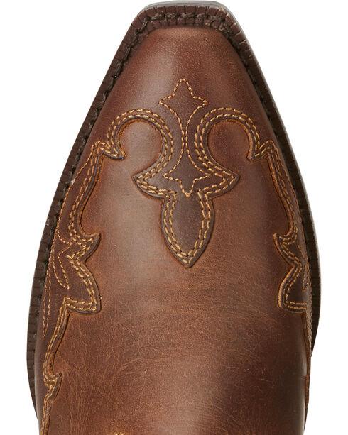 Ariat Girls' Zealous Wingtip Overlay Cowgirl Boots - Snip Toe, Brown, hi-res