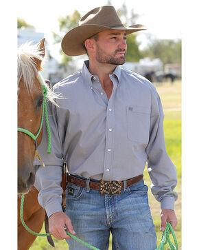 Cinch Men's Grey Long Sleeve Western Shirt , Grey, hi-res