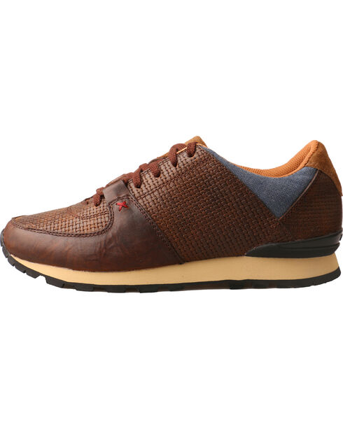 Twisted X Women's Western Athleisure Basketweave Shoes, Brown, hi-res