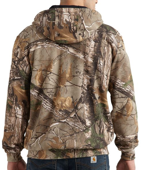 Carhartt Realtree Xtra® Camo Midweight Hooded Zip-Front Sweatshirt - Big & Tall, Camouflage, hi-res