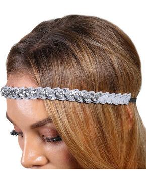 Shyanne® Women's Rhinestone Marquis Headband, Silver, hi-res