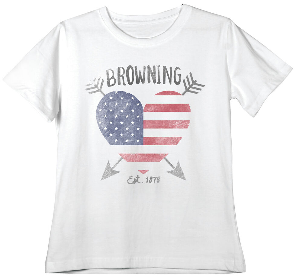 Browning Women's Classic Fit Love Stuck White T-Shirt, , hi-res