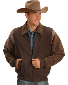 Cripple Creek Wool Western Jacket, Chocolate, hi-res