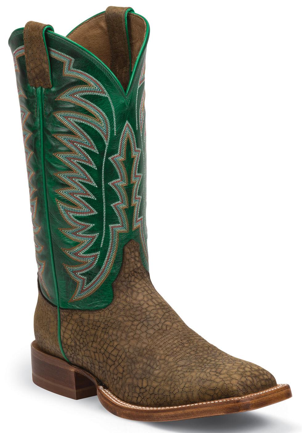Justin Bay Desperado Stampede CPX Cowboy Boots - Square Toe , Brown, hi-res