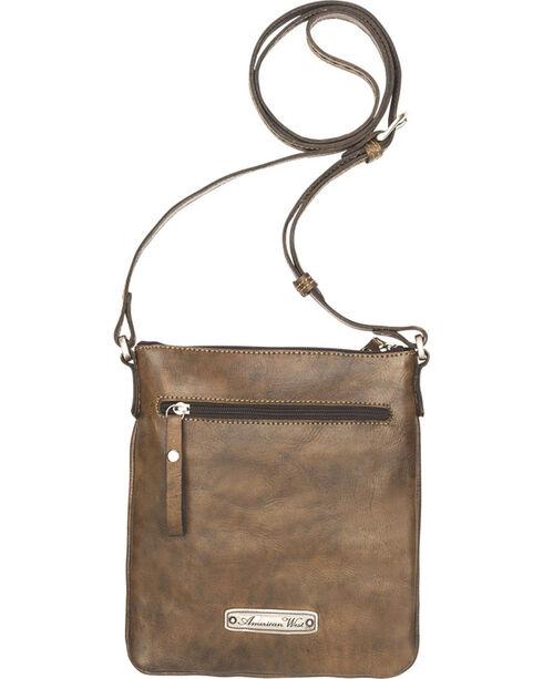 American West Brown Native Sun Crossbody Bag, Brown, hi-res