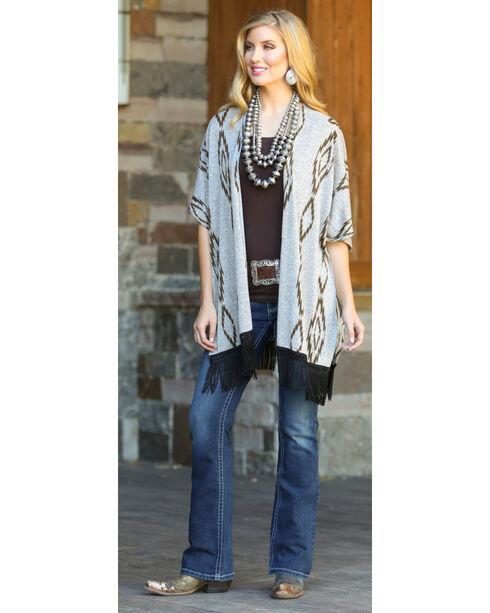 Wrangler Rock 47 Women's Aztec Kimono , Oatmeal, hi-res