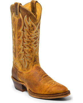 Justin Men's Cognac Keaton Western Boots - Medium Toe , Brown, hi-res