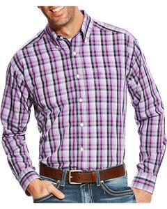 Ariat Men's Zelman Classic Fit Wrinkle Free Plaid Long Sleeve Shirt, Multi, hi-res