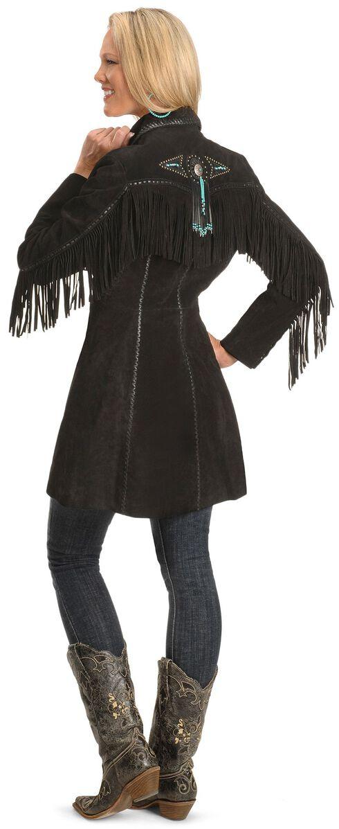 Scully Beaded Fringe Coat, Black, hi-res