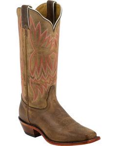 Tony Lama Suntan Americana Cowgirl Boots - Square Toe, , hi-res