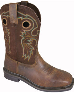 Smoky Mountain Men's Grizzly Leather Western Boots - Square Toe, , hi-res