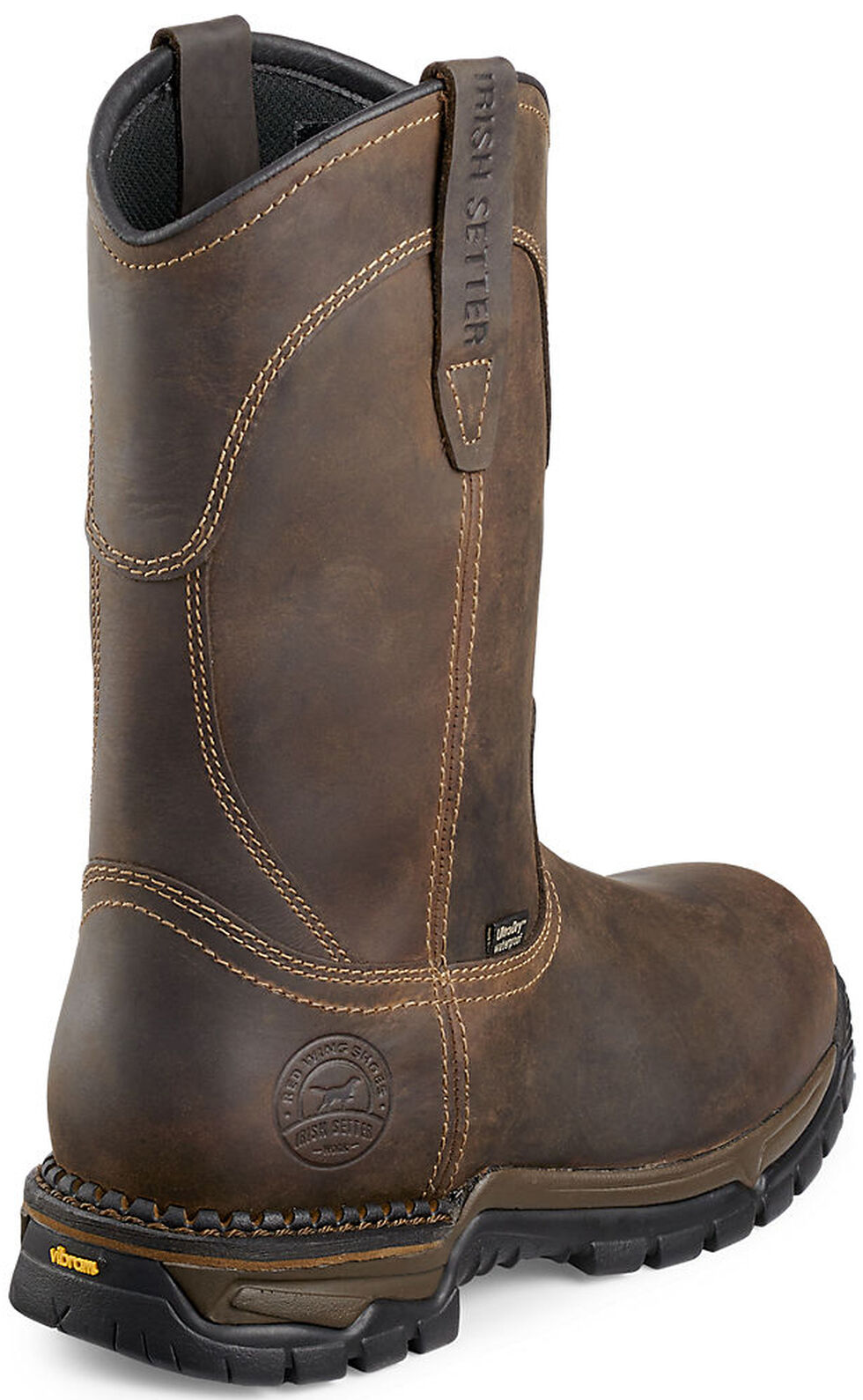 Irish Setter by Red Wing Shoes Men's Two Harbors Pull-On Work Boots - Steel Toe , Brown, hi-res