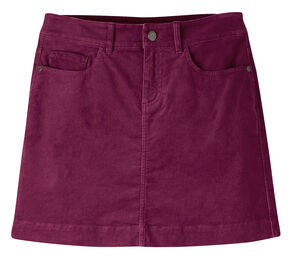 Mountain Khakis Women's Hollyhock Canyon Cord Slim Fit Skirt , Maroon, hi-res