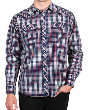 Moonshine Spirit Men's Humbolt Long Sleeve Shirt , Navy, hi-res