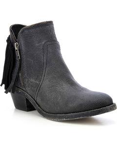 Circle G Fringe Zip Short Boots - Round Toe, , hi-res
