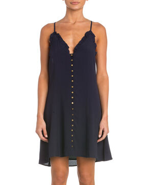 Miss Me Women's The Real Thing Dress , Navy, hi-res