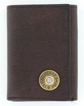 Nocona Shotgun Shell Tri-fold Wallet, Brown, hi-res