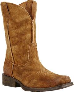 Ariat Urban Rambler Antique Suede Cowboy Boots - Square Toe, , hi-res