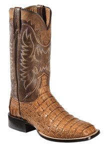 Men's Lucchese Bootmaker Luke R Toe Cowboy Boot, Size: 9.5 D, Sienna Full Quill Ostrich