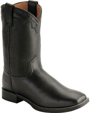 Justin Stampede Roper Cowboy Boots - Square Toe, Black, hi-res