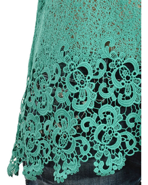Miss Me Women's Peace and Harmony Tank, Teal, hi-res