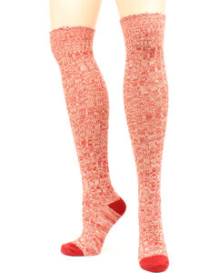 Ariat Women's Above the Knee Marbled Knit OSFA Socks, , hi-res