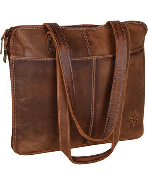 STS Ranchwear Baroness Shopper Bag , Brown, hi-res