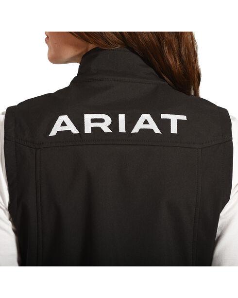 Ariat Women's Team Softshell Vest, Black, hi-res