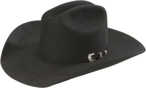 Resistol Squared Challenger 4X Fur Felt Cowboy Hat, Black, hi-res