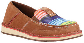 Ariat Women's Serape Cruiser Moccasins, Brown, hi-res