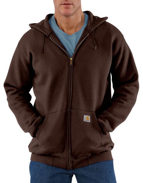 Carhartt Hooded Zip Sweatshirt - Big & Tall, Dark Brown, hi-res