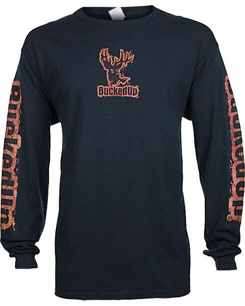 Bucked Up Men's Black Mud Logo Long Sleeve Shirt , Black, hi-res