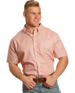 Cody James Men's Harlington Short Sleeve Printed Shirt, Orange, hi-res