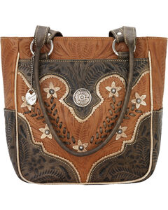 American West Golden Tan Desert Wildflower Tote, Tan, hi-res